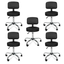 5X Adjustable Black Facial Spa Salon Stool Rolling Massage Chair w/Backrest