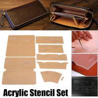 DIY Leather Craft Acrylic Clutch Bag Handbag Pattern Stencil Template Tool Set