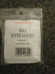 2  PACK EMMA JANE MATERNITY NURSING BRA EXTENDERS BLACK