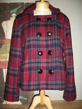 NWT RELATIVITY PLAID PEA COAT, SZ LARGE Woman's Peacoat Plaid New Plaid Coat