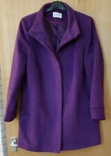 Marks And Spencer Purple Coat Size 14