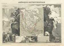 1852 Levasseur Map of North America (w/ Republic of Texas)