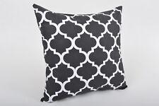 Kissenhülle Kissenbezug Dekokissen 100% Baumwolle Schwarz-Weiß Black&White