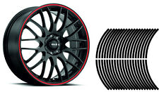 Wheel Striping Stripes Stickers Decals for Motorbike or Car *9mm* Black