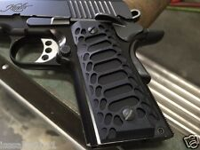 "1911 Compact Officer Grips Colt kimber Defender BLACK ""Cobra"""