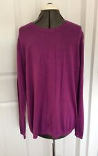 New Men's Banana Republic Magenta Cotton Mix Fine Knit Sweater XL Jumper Purple