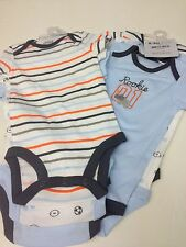 NWT Child Of Mine  Carter's Baby Boys Short Sleeve (6 PIECES) Bodysuits 0- 3 M