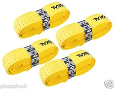 4 x Karakal Tribale Super PU sostituzione grip-TENNIS-Squash Badminton giallo