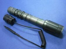 Zoom CREE XM-L T6 LED 1-Mode 1600 Lm Flashlight Hunting Torch + Remote switch