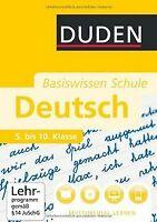 Duden. Basiswissen Schule. Deutsch 5. bis 10. Klasse von... | Buch | Zustand gut