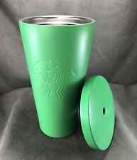 Starbucks Matte Lime Green Stainless Steel Tumbler 16oz Cold Drink Siren Mermaid