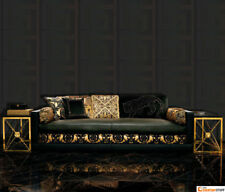 Black Versace Designer Wallpaper Greek Key Luxury Satin Modern