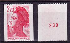 """France NEUF N°2379a """"Liberté de Delacroix"""" 1985 N° rouge au verso Type a"""