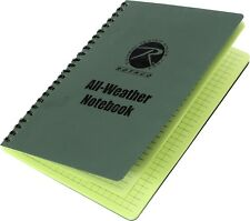 "Olive Drab All Weather Waterproof Notebook 6"" x 8"""
