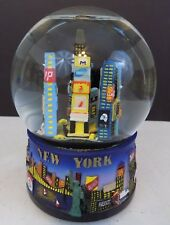 "New York City - ""City Merchandise"" Musical Snow Globe-Landmarks & Companies-Rare"