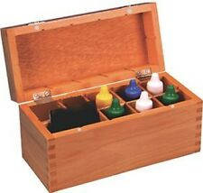 Gold testing acids wood storage box test 10k 14k 18k 22k silver stones kit
