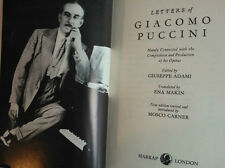 MOSCO CARNER.ENA MAKIN.LETTERS OF GIACOMO PUCCINI.1ST REV H/B 1974,B/W PHOTOS