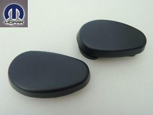 DODGE RAM 2009 - 2013 ORIGINAL TUBULAR SIDE STEPS BARS END CAP CAPS SET