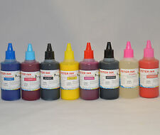 8 X 100ML CAN-INK PIGMENT Ink refill For Epson R2000 printer cartridge cis ciss