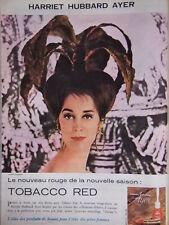 PUBLICITÉ HARRIET HUBBARD AYER TOBACCO RED LE NOUVEAU ROUGE DE LA SAISON - AD
