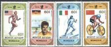 Mongolia 1989 Mi 2074-77 Sport Olimpiada Olympic Olympiade Bike Rower