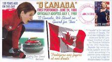 "COVERSCAPE computer designed ""O Canada"" event cover"
