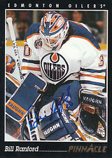 BILL RANFORD OILERS AUTOGRAPH AUTO 93-94 PINNACLE #81 *17568