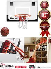 Basketball Hoop Practice SKLZ Backboard Rim & Ball For Indoor & Door Mounts New