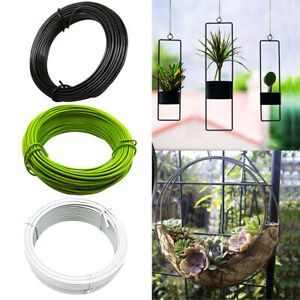 10m Garden Tie Strapping Rope Plastic Coated Iron Wire DIY Making Flowerpot