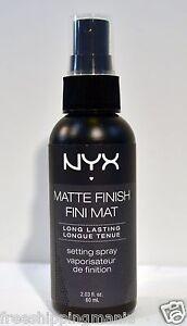 MATTE FINISH SETTING SPRAY  NYX LONG LASTING 2.03OZ BOTTLE