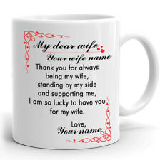Personalized Mug Gift for Wife I'm so lucky to have you for my Wife Custom Mug
