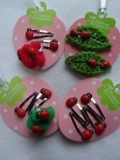 ladybird hair clips ,snap clips,bendies girls baby toddler hair accessories sets