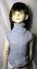 Grey ribbed sleeveless turtleneck  for SD, 1/3 bjd DIM dolls