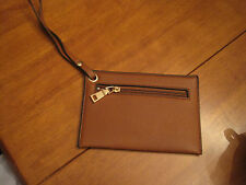 "Camel faux leather wristlet 7""x 4.75""  (A1)"
