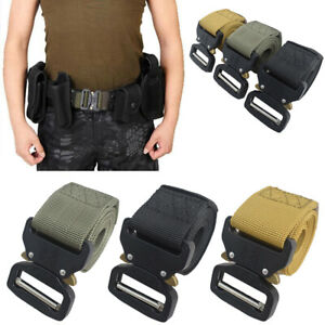 Men's Tactical Military Training Heavy Duty Nylon Quick Release Rigger's Belt GY