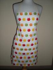 SALE 20% OFF Handmade full length Apron Unisex style apple print cotton NEW