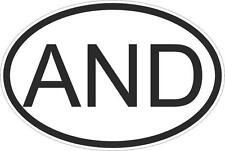 Adesivo adesivi sticker codice auto moto ritagliato  paese ovale andorra