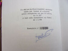 HENRI GOUTTEBEL INSTITUTEUR  Lucien Gachon Ex. numéroté signé de l'auteur