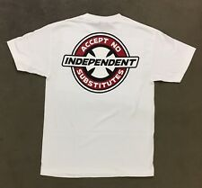 Independent Trucks Accept No Substitution Skateboard T Shirt White Men's Med