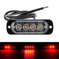 4 LED Car Vehicle Amber Flashing Warning Emergency Flash Strobe Light Bar Lamp