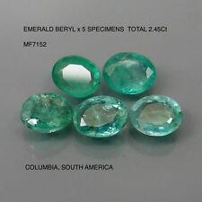 EMERALD BERYL x 5 SPECIMENS NATURAL MINED TOTAL 2.45Ct MF7152