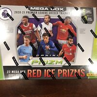 1-Sealed Pack 2020-21 Panini Prizm Premier League Soccer Mega Box Red Ice Prizms