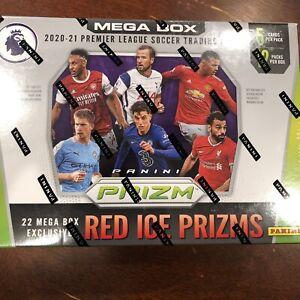 1-Sealed Pack 2020-21 Panini Prizm Premier League Soccer Mega Box Red Ice Prizms