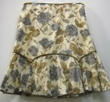 Nwot abstract floral  lace cotton lined SKIRT 10 L Check measurements Free shipp