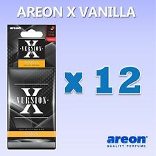 12 x Areon X Version Vanilla Fragrance Car Air Freshener Quality Car Scents