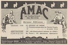 Y9928 AMAC - Carburateur pour motos - Pubblicità d'epoca - 1931 Old advertising