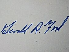 PRESIDENT GERALD R. FORD GENUINE HAND SIGNED AUTOGRAPH W/COA