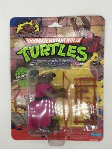 Teenage Mutant Ninja Turtles1988 Playmates Splinter TMNT 10 Back Soft Head R02