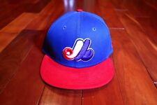 Vintage Montreal Expos New Era Snapback 9fifty Cap Hat Cooperstown Collection