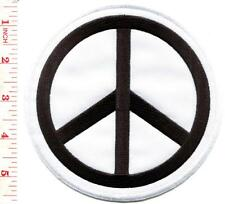 Peace sign hippie retro boho love applique iron-on patch BIG 5.25 inches S-579